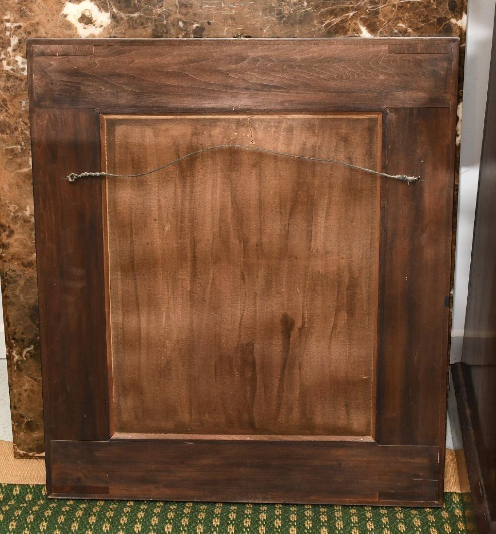 Art Deco style burled mahogany wall mirror - 5