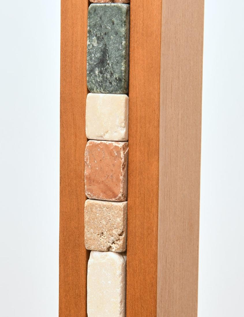 Maple and stacked stone floor lamp - 3