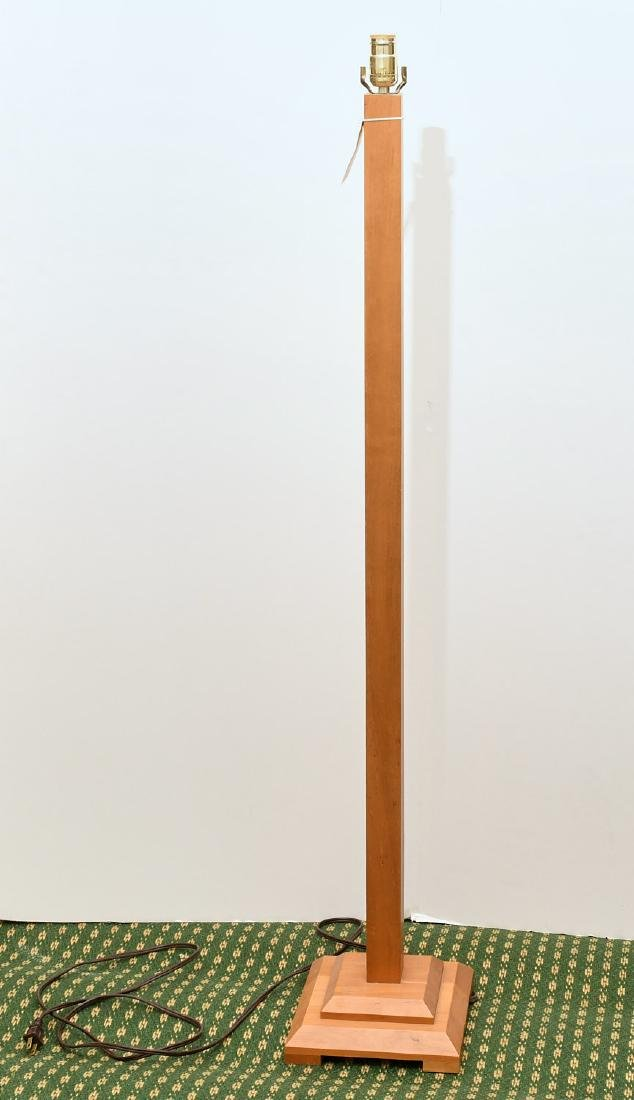 Maple and stacked stone floor lamp - 5