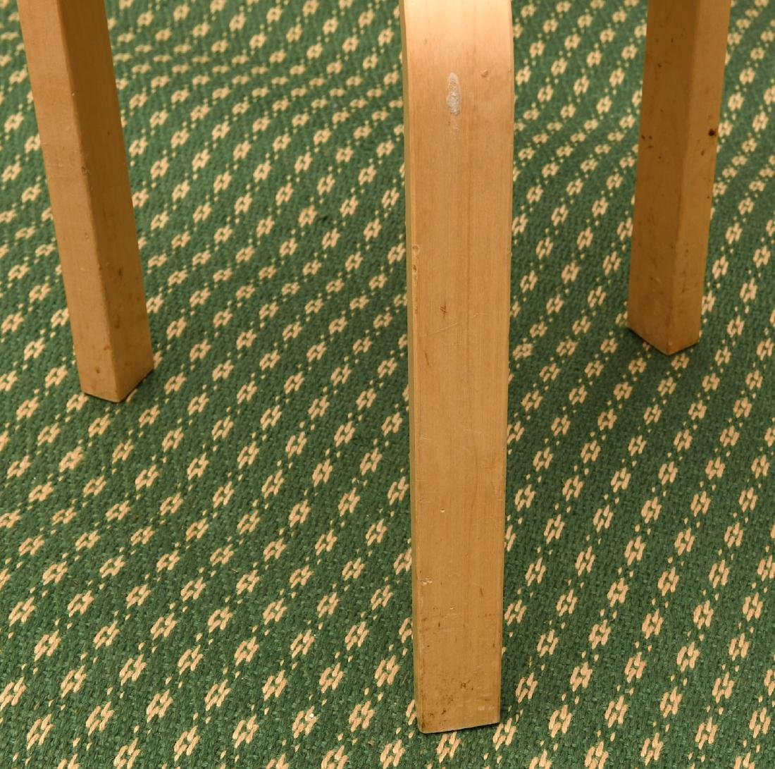 Set (4) Alvar Aalto style bentwood stacking stools - 4