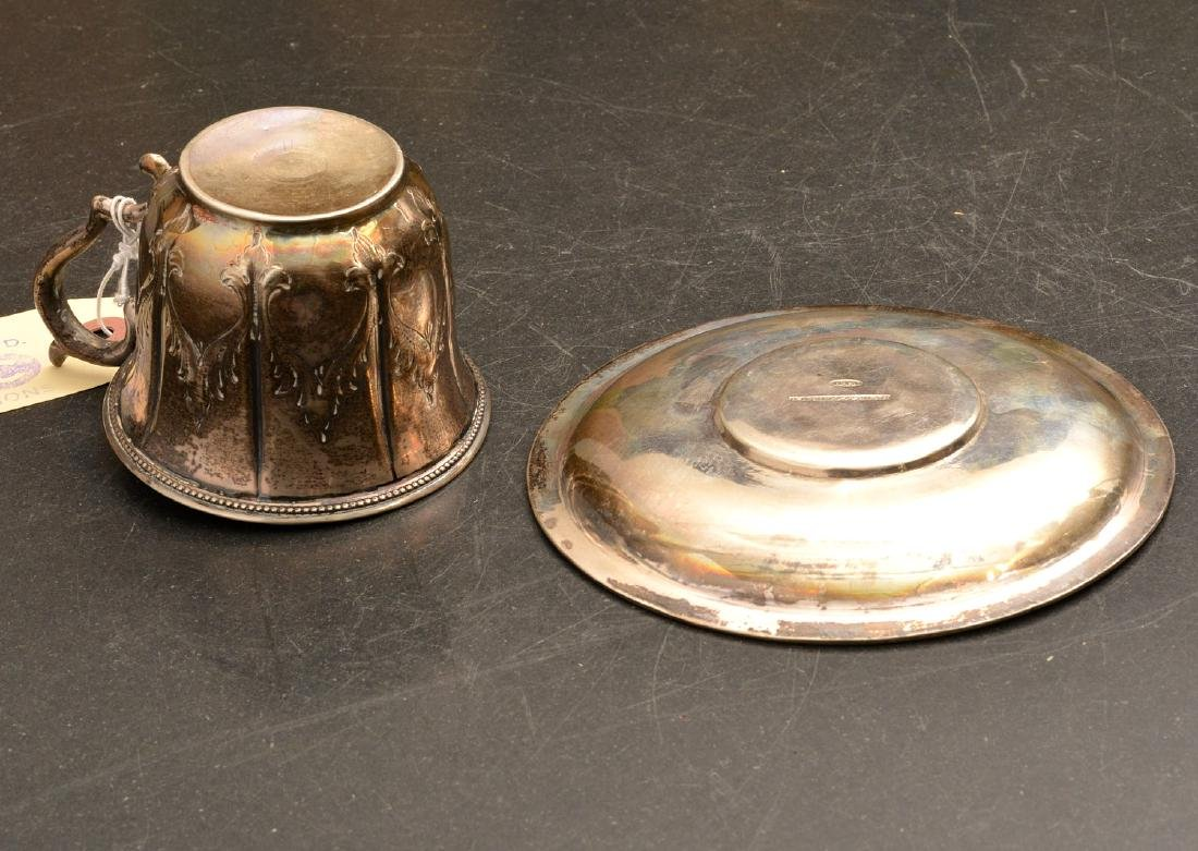 Coin Silver cup and saucer, Kuchler & Himmel - 8
