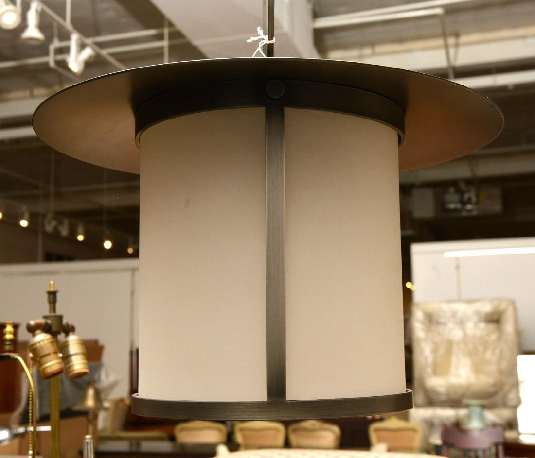 Modernist lantern light fixture