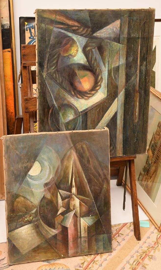 Manner of Georges Braque, (2) paintings