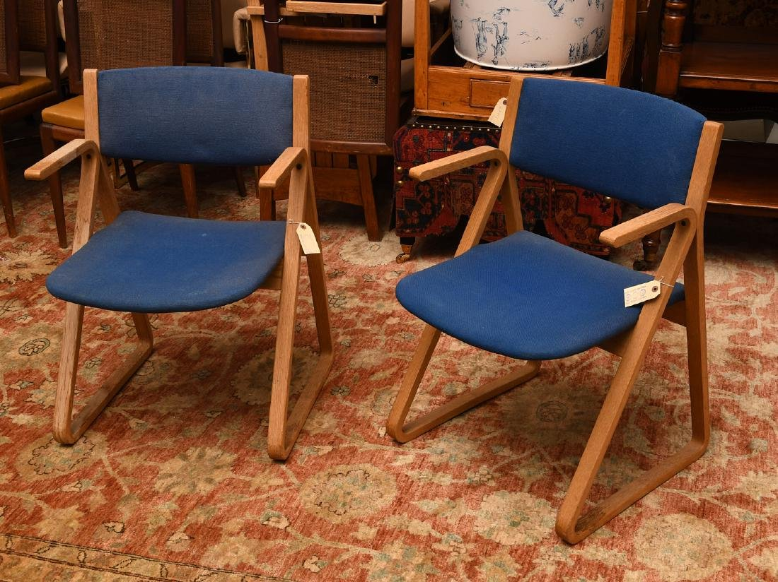 Pair Stow & Davis triangle chairs