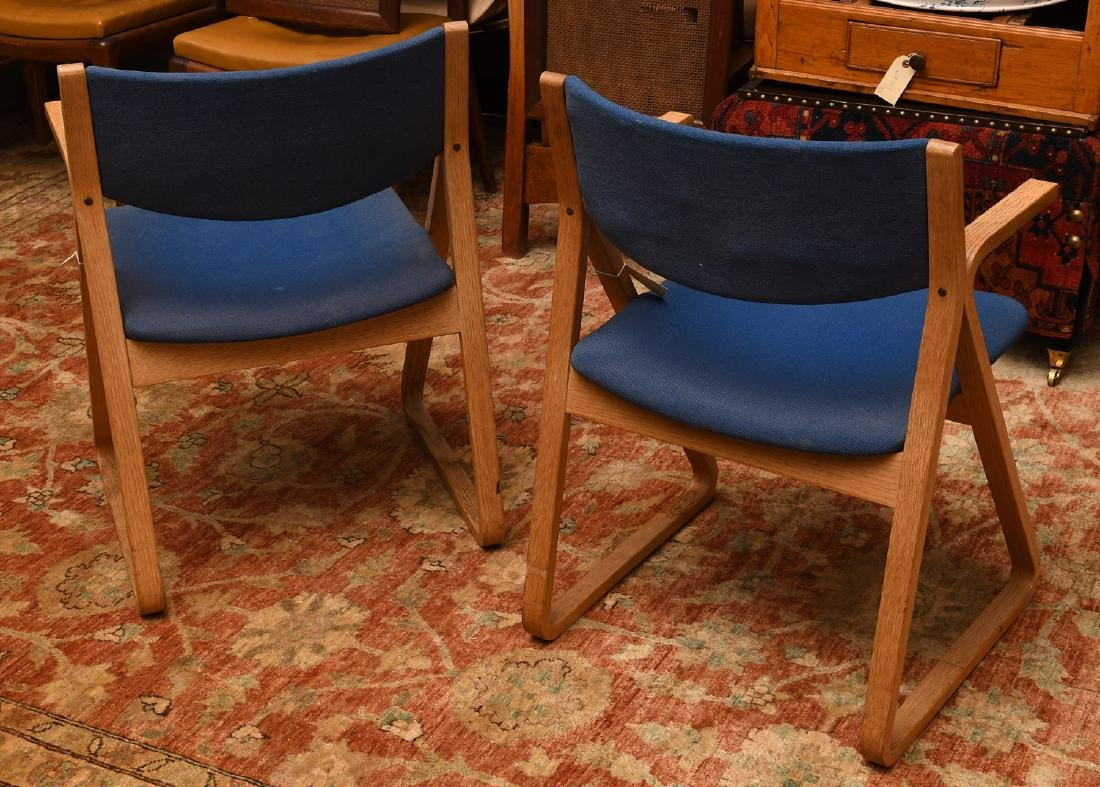 Pair Stow & Davis triangle chairs - 3