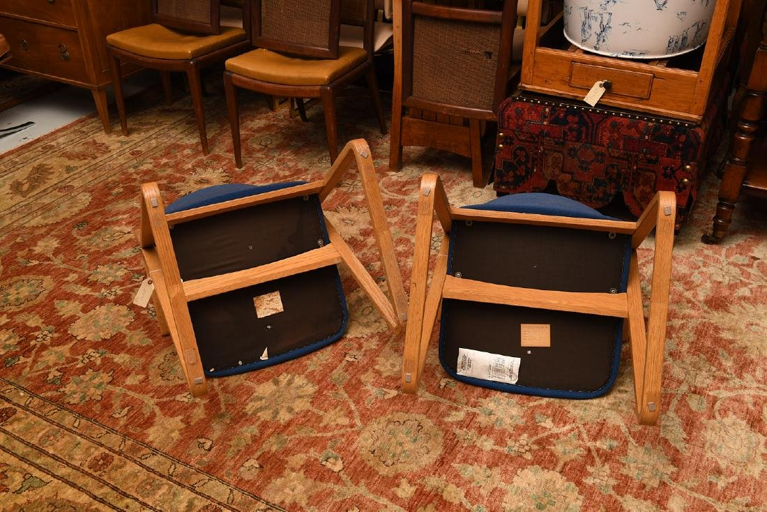 Pair Stow & Davis triangle chairs - 5