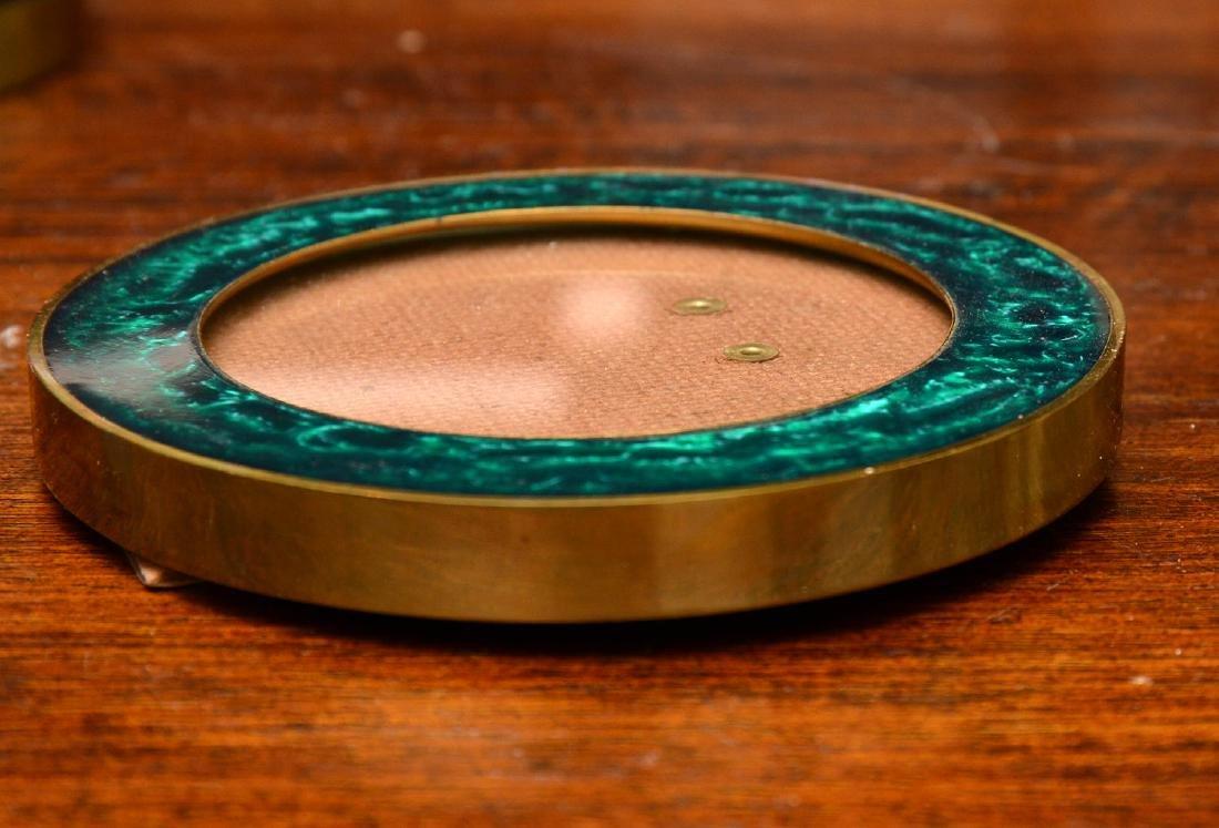 Set (6) modern enameled brass picture frames - 3