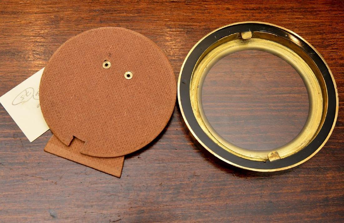 Set (6) modern enameled brass picture frames - 7