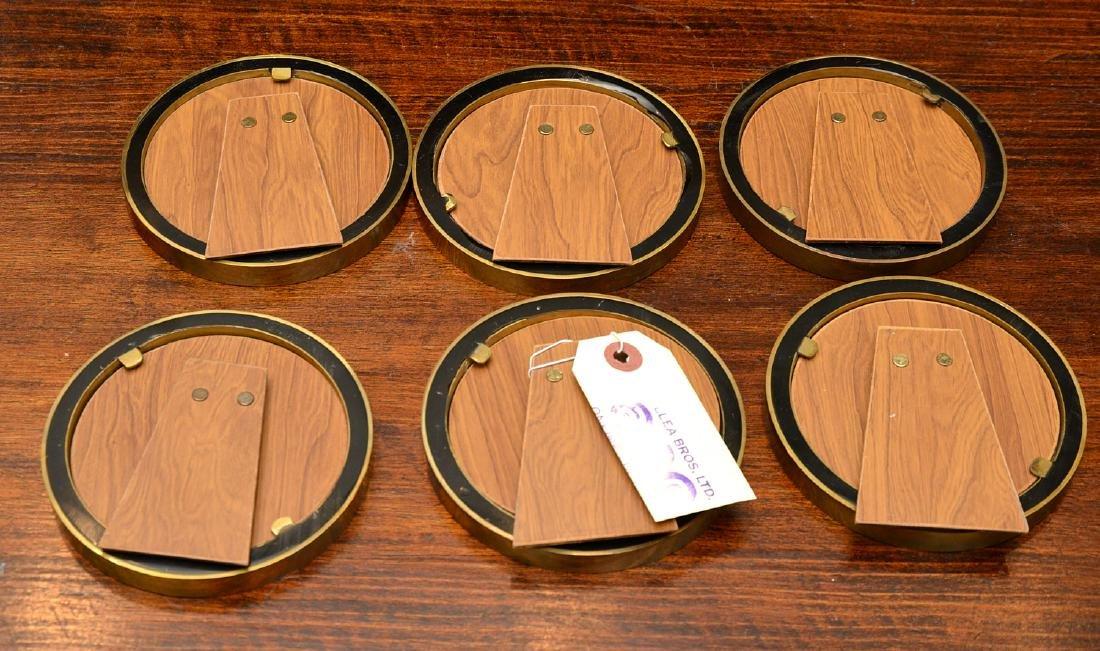 Set (6) modern enameled brass picture frames - 8