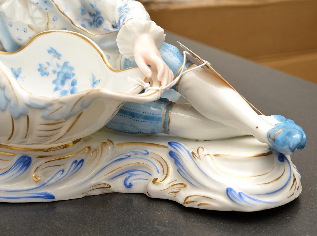 Pair Meissen style porcelain sweet meats - 3