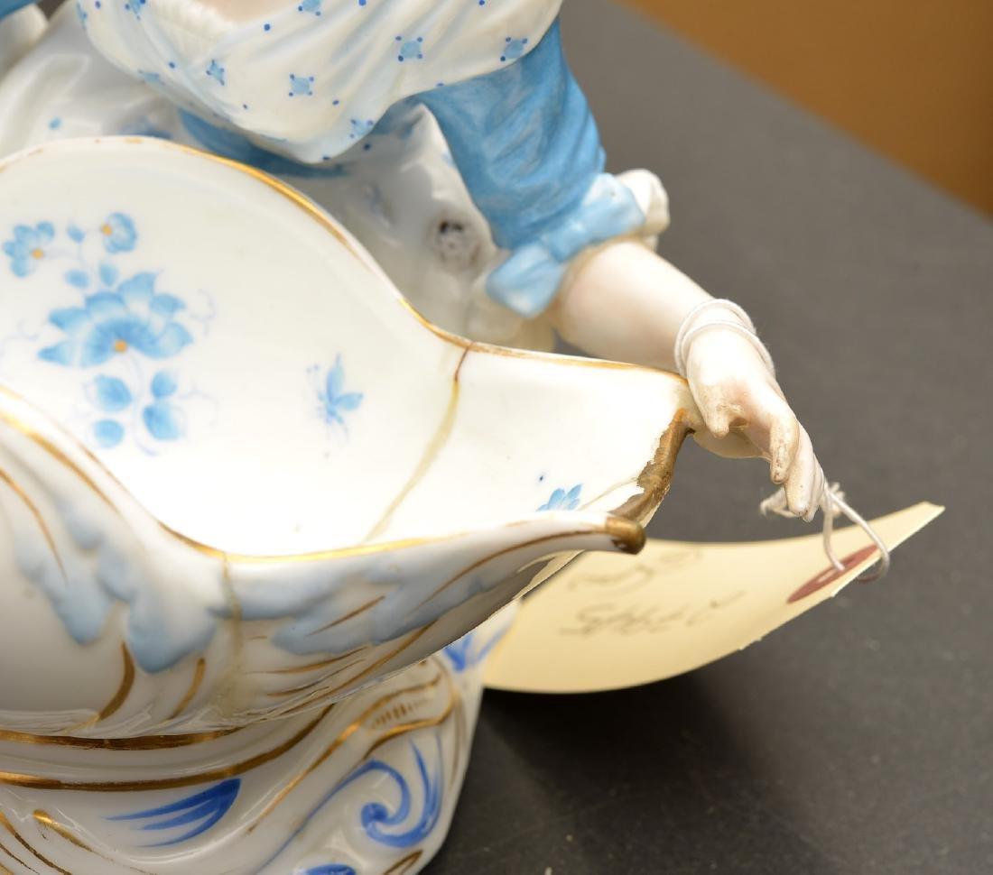 Pair Meissen style porcelain sweet meats - 6
