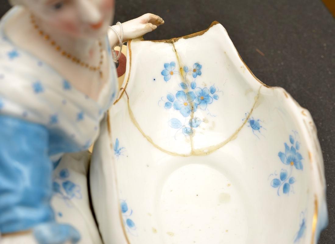 Pair Meissen style porcelain sweet meats - 7