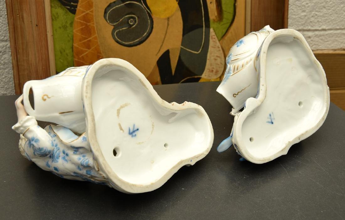 Pair Meissen style porcelain sweet meats - 9