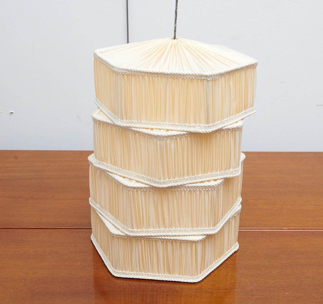 Set (4) vintage silk lamp shades