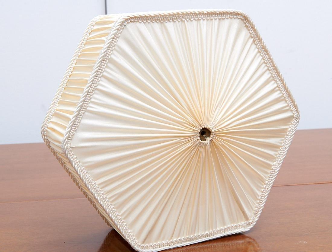 Set (4) vintage silk lamp shades - 5