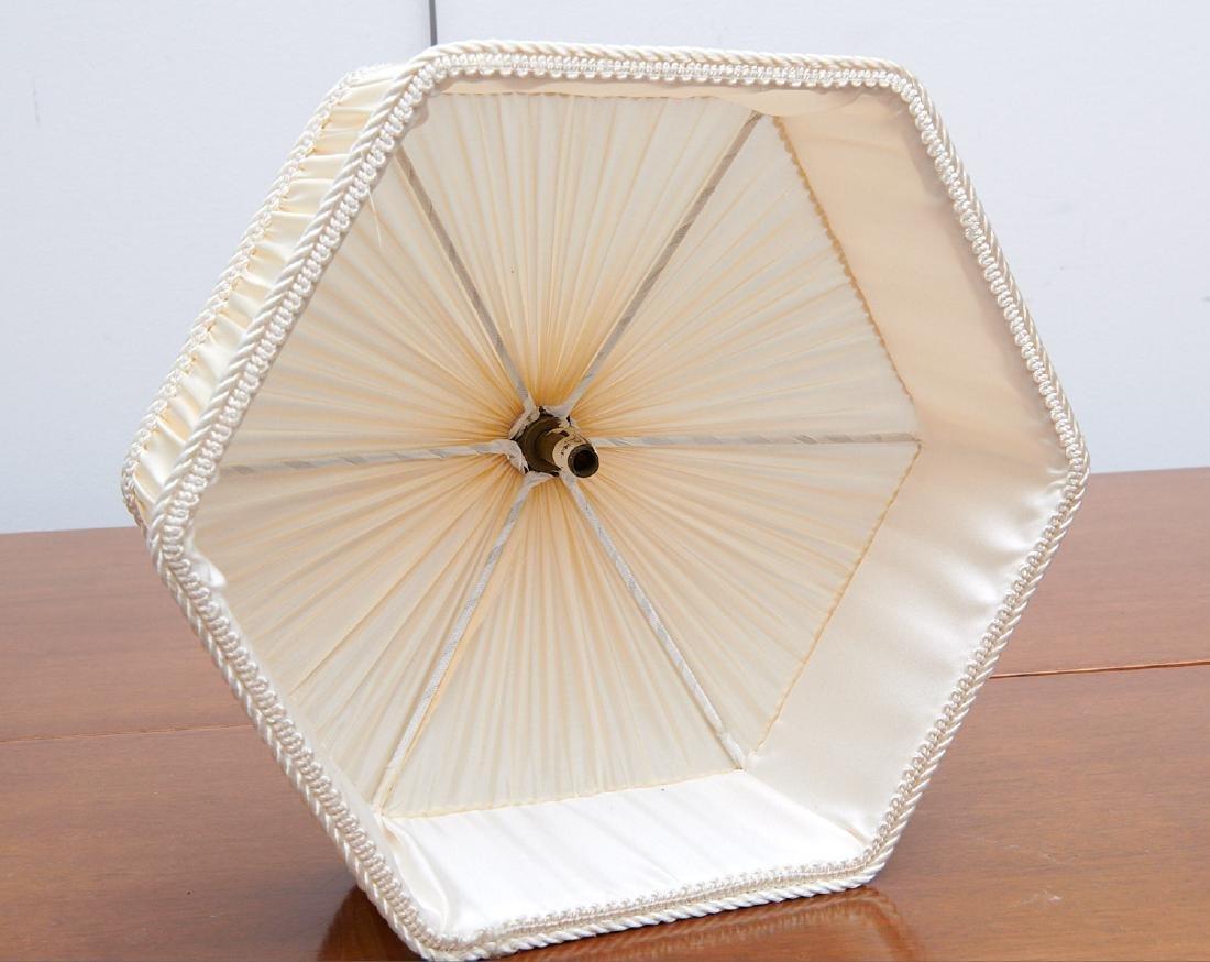 Set (4) vintage silk lamp shades - 7