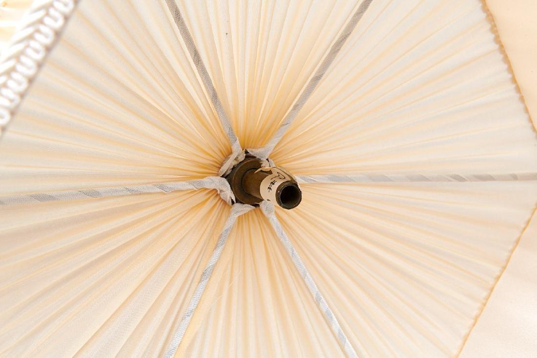 Set (4) vintage silk lamp shades - 8
