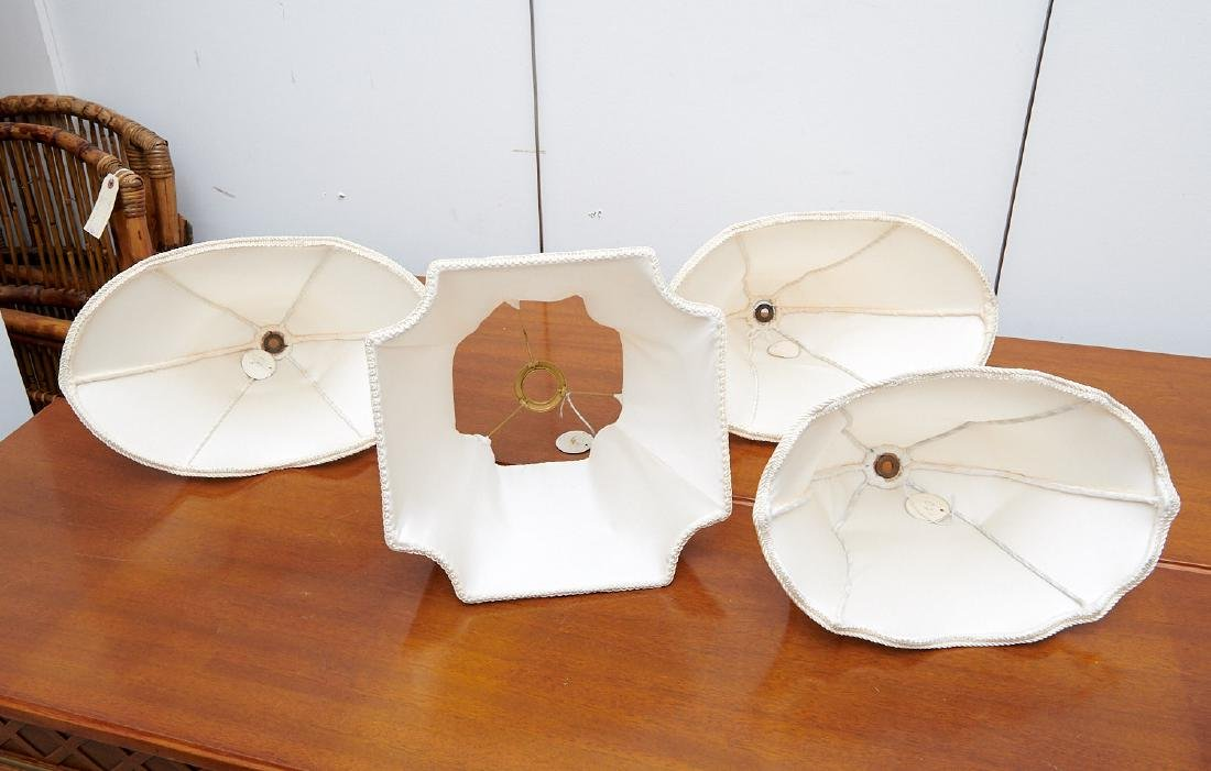 Group (4) vintage silk lamp shades - 10