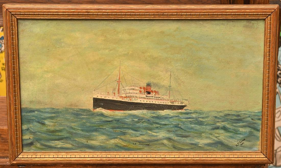 American School, folk art ship painting
