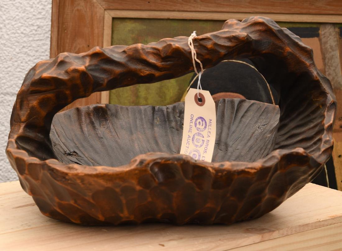 Japanese naturalistic carved basket