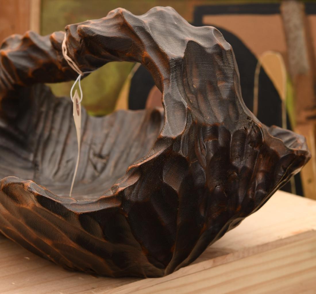 Japanese naturalistic carved basket - 2