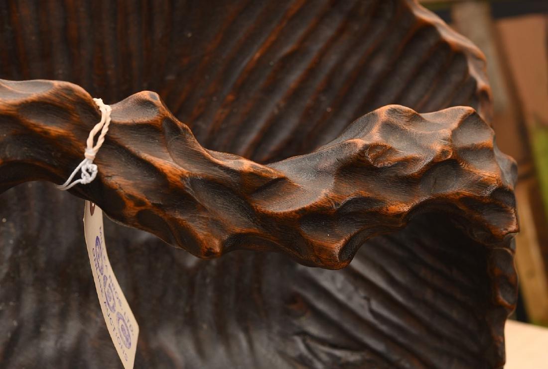 Japanese naturalistic carved basket - 3
