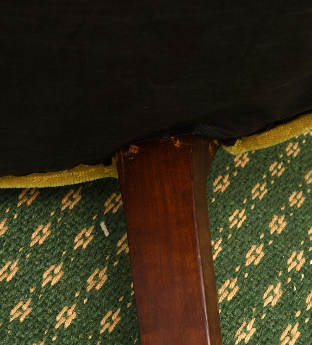 Pair mahogany pierced barrel chairs - 10