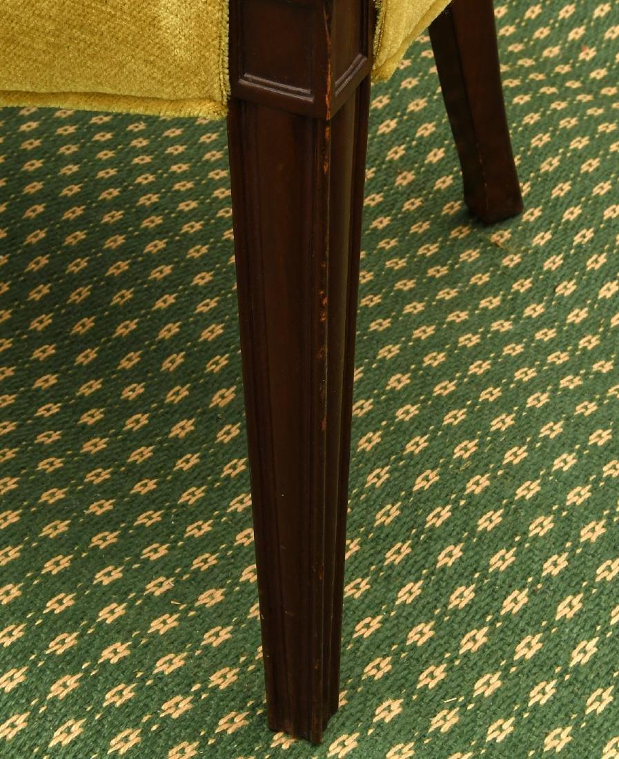 Pair mahogany pierced barrel chairs - 5