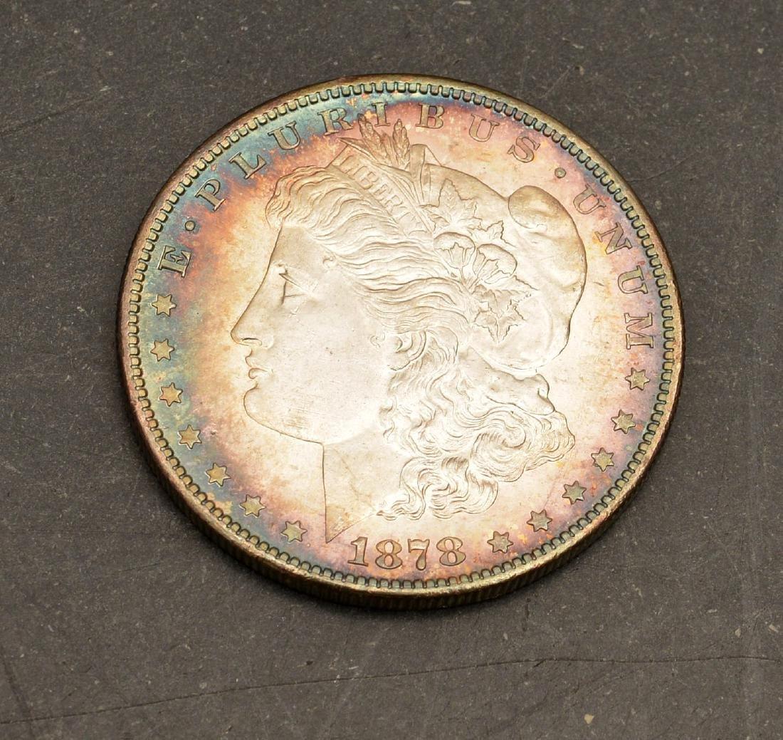 (3) 1878 Morgan silver dollars - 2