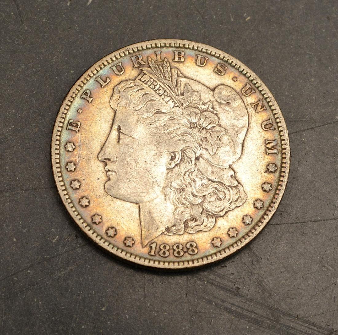(5) 1887 & 1888 Morgan silver dollars - 2