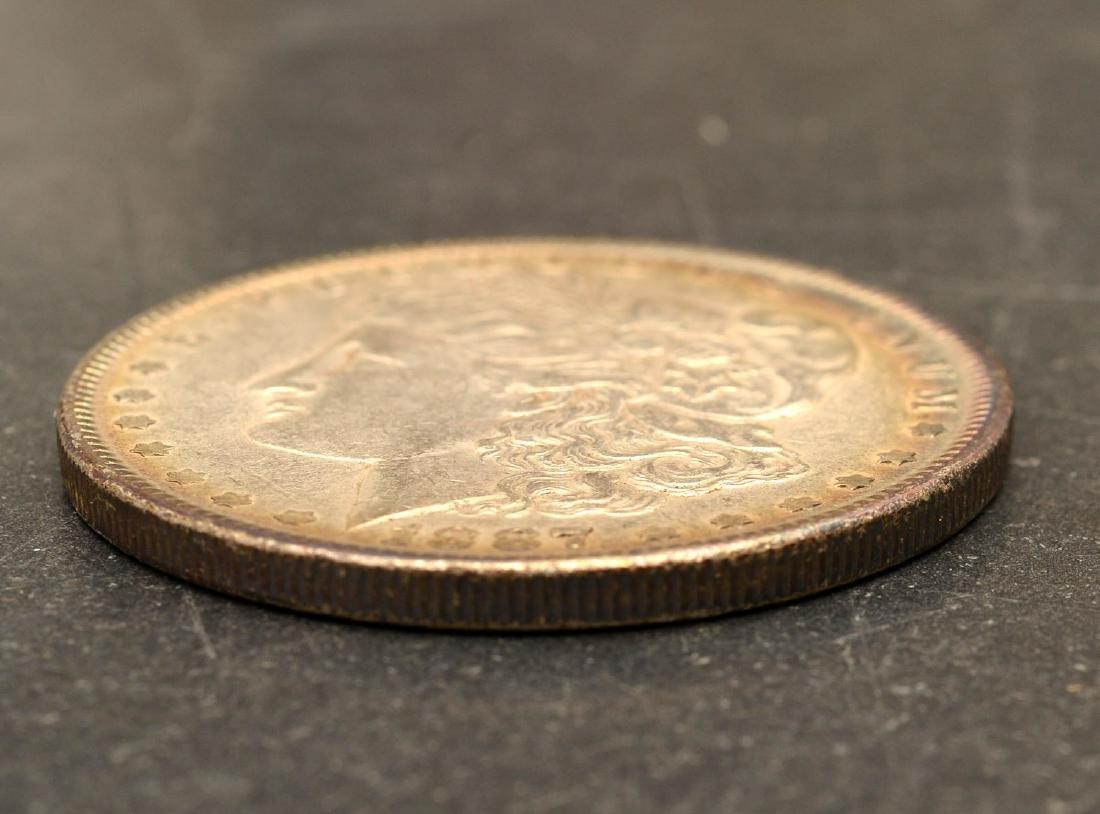 (5) 1887 & 1888 Morgan silver dollars - 7