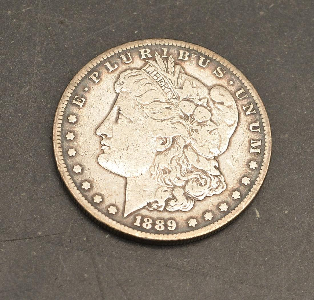 (3) 1889 Morgan silver dollars - 2