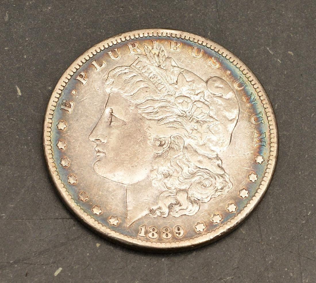 Rare 1889 CC Morgan silver dollar