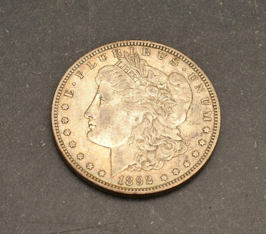 (6) 1892 & 1893 Morgan silver dollars - 2