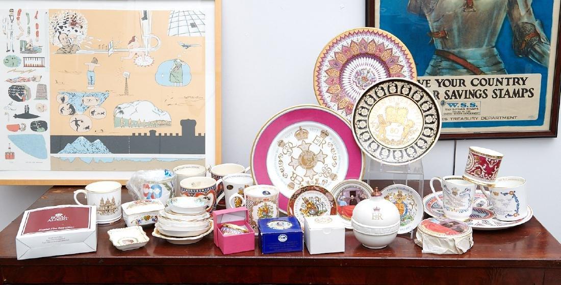 (40+) English Royalty commemorative porcelains