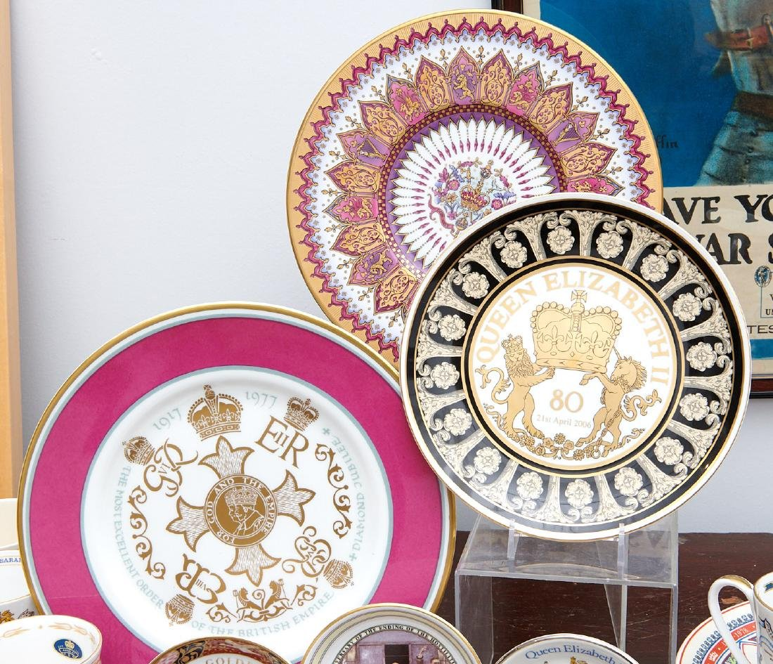 (40+) English Royalty commemorative porcelains - 3