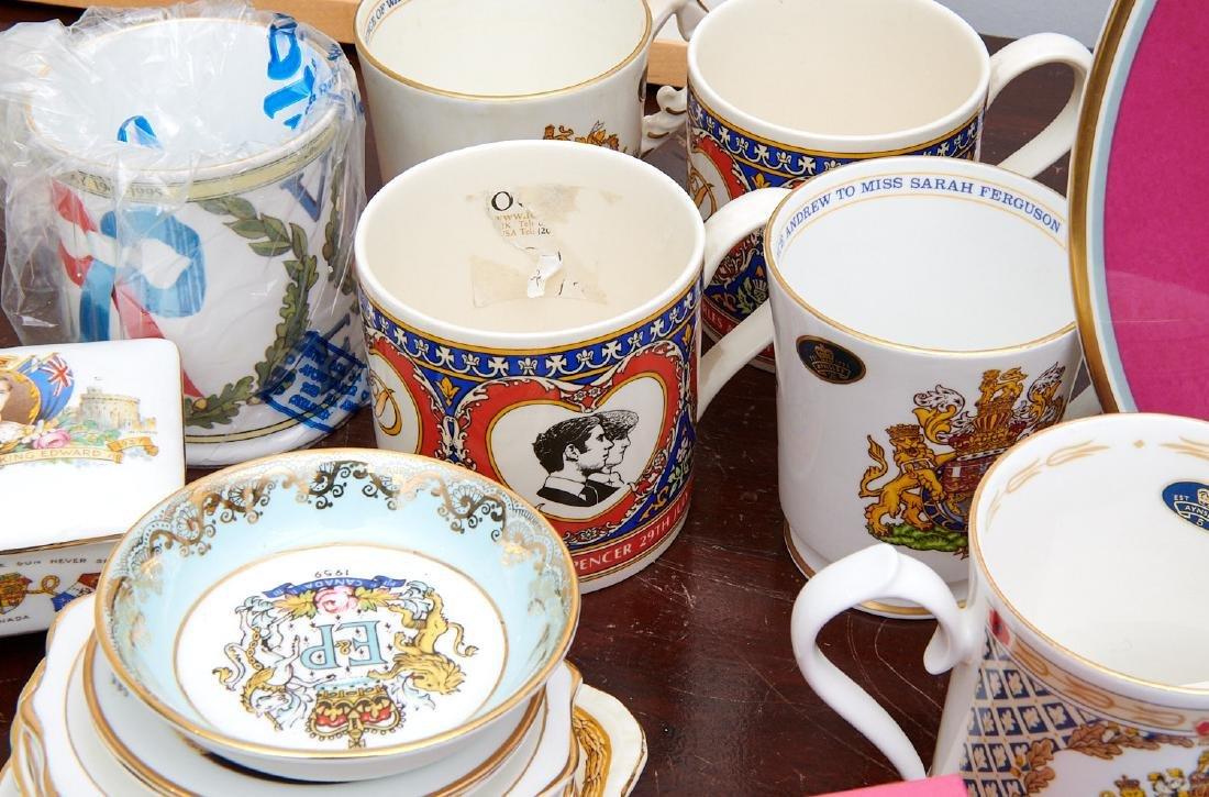 (40+) English Royalty commemorative porcelains - 6