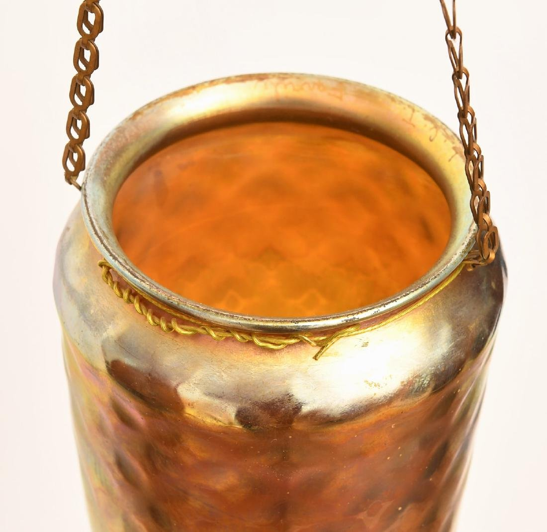 Tiffany Favrile style hanging pendant shade - 3
