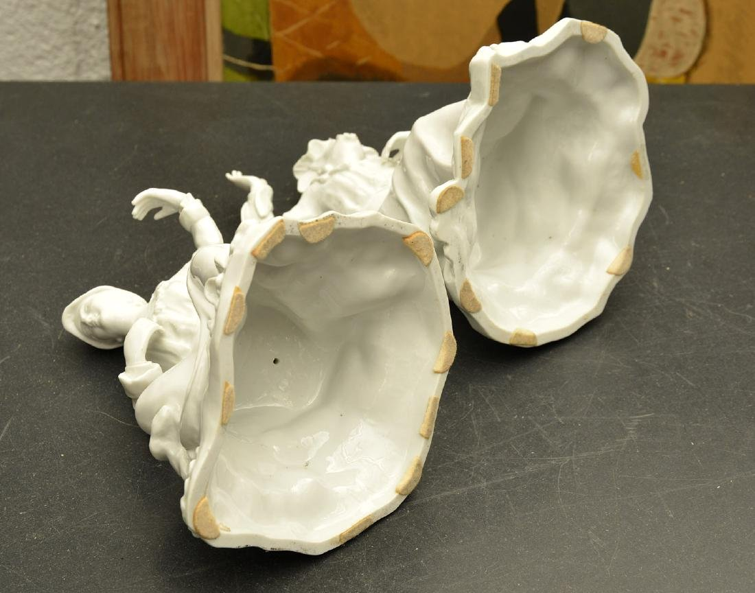 Pair Continental blanc de chine figures - 7