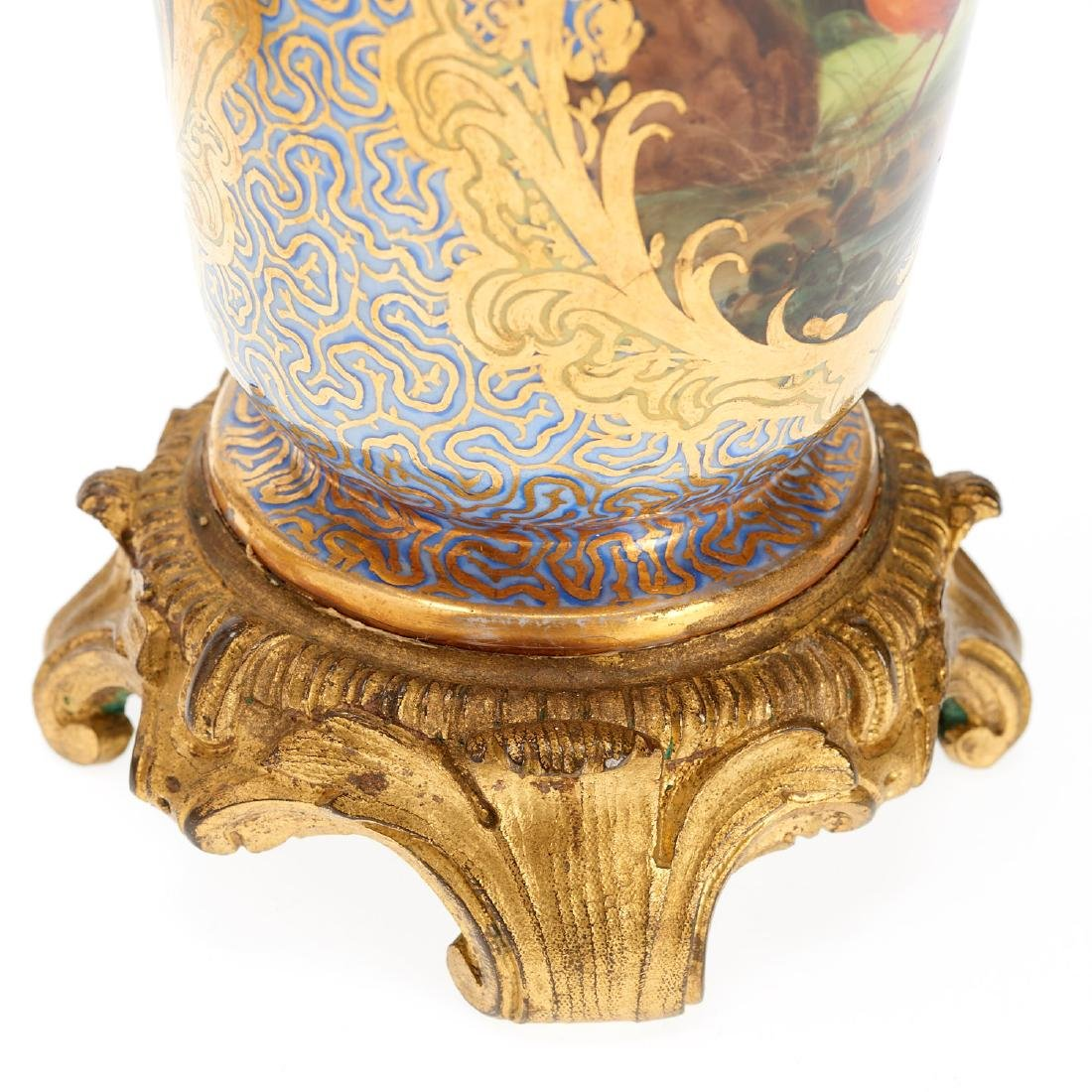 Pair Continental bronze mounted vases - 5