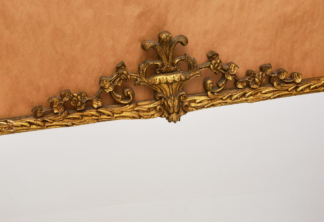 Vintage carved gilt wood wall mirror - 2