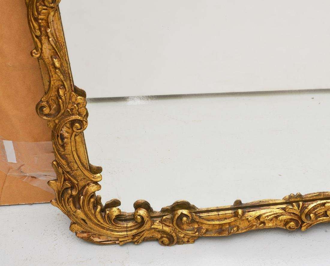 Vintage carved gilt wood wall mirror - 3