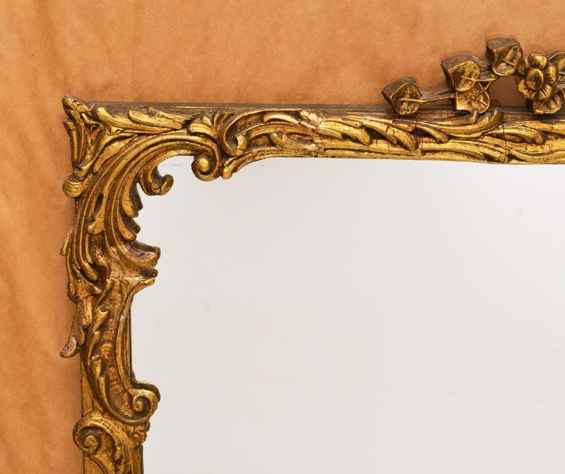 Vintage carved gilt wood wall mirror - 4