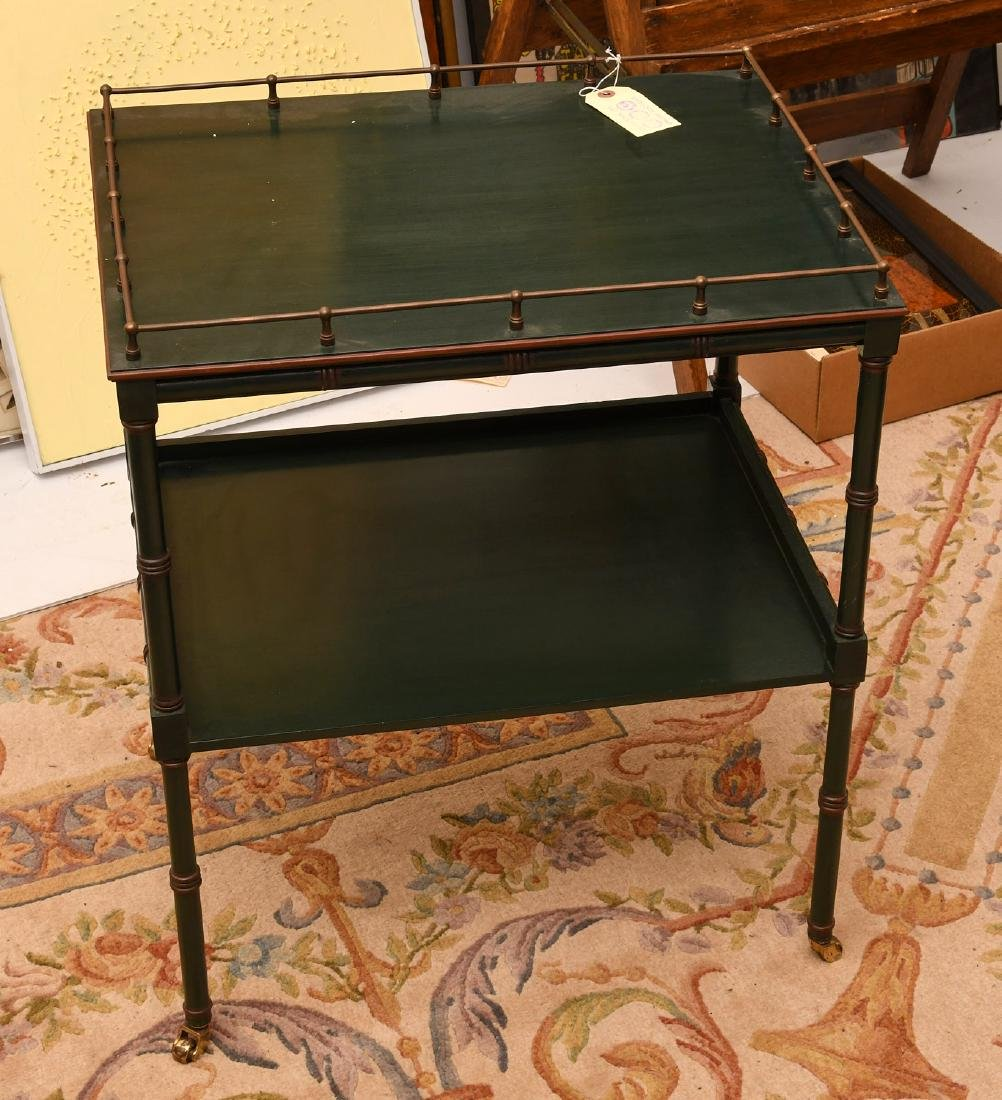 Painted Sheraton style tea cart - 4
