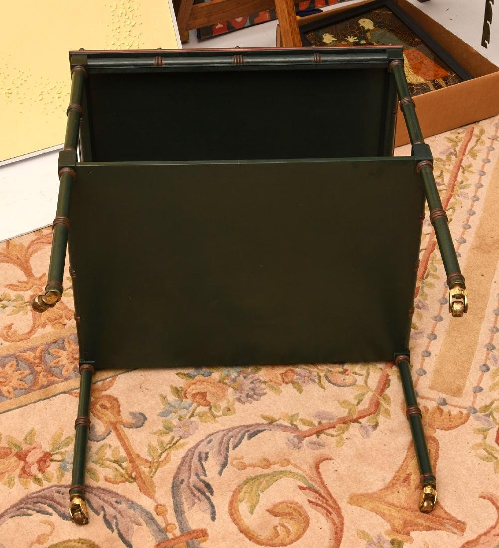 Painted Sheraton style tea cart - 6