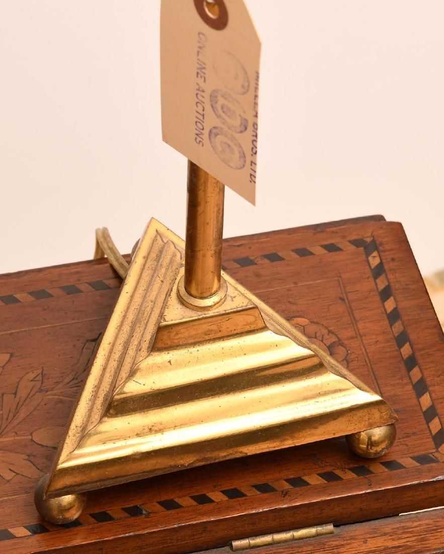 Pair Modernist brass stick lamps - 2