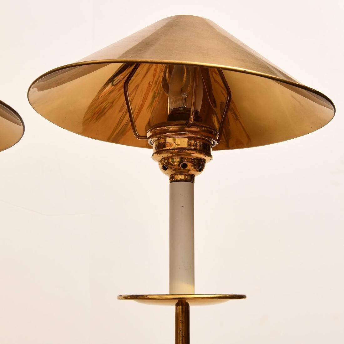 Pair Modernist brass stick lamps - 3