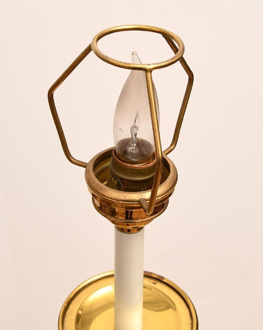 Pair Modernist brass stick lamps - 4