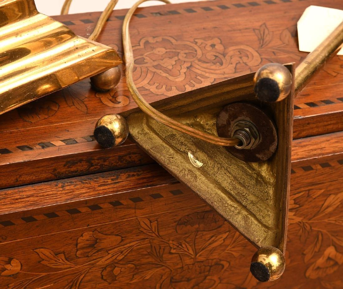 Pair Modernist brass stick lamps - 6
