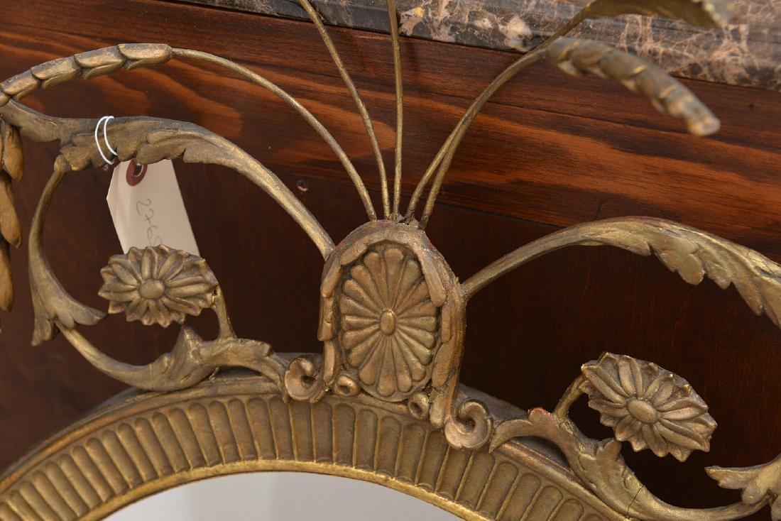 Adams style gilt wood wall mirror - 2